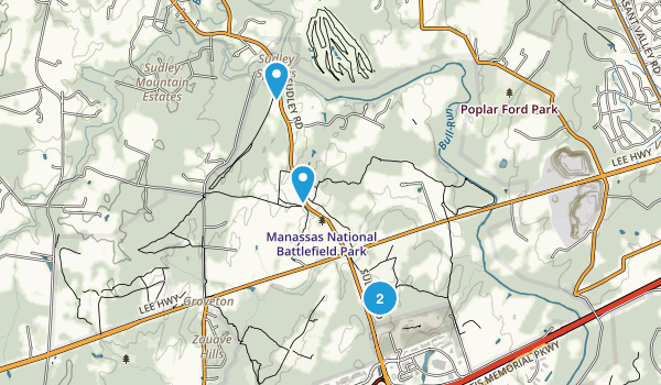 Manassas National Battlefield Park Map