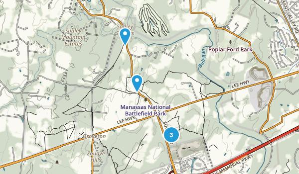Manassas National Battlefield Park Map