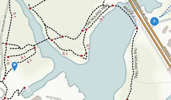 trail locations for Mariners Museum Park