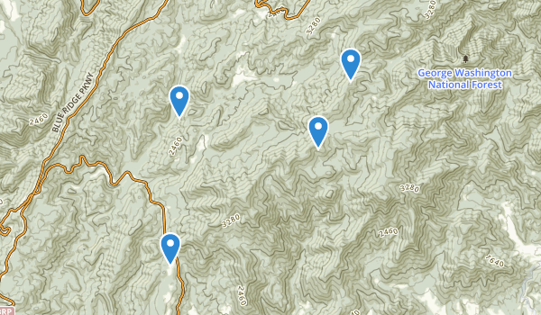 trail locations for Mount Pleasant Special Management Area