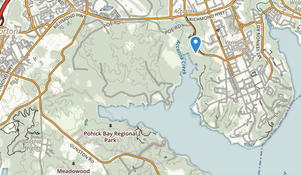 trail locations for Pohick Bay Regional Park