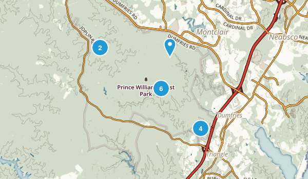 Prince William Forest Park Map