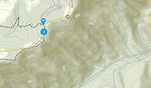 Área de recreación de Rocky Knob Map