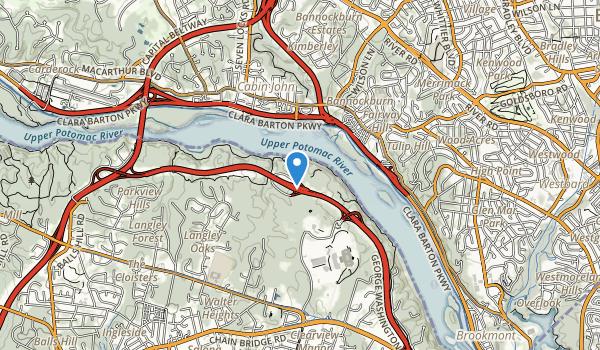 trail locations for Turkey Run Park