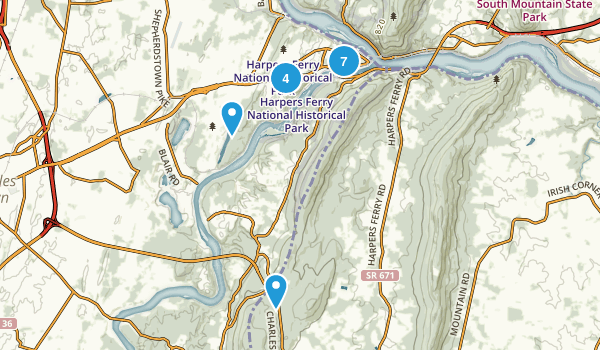 Harpers Ferry National Historical Park Map