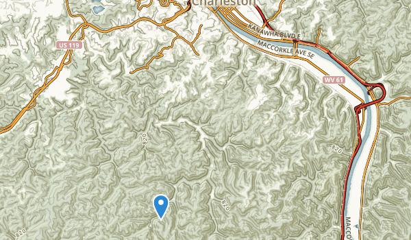 trail locations for Kanawha Riflemens Memorial Park