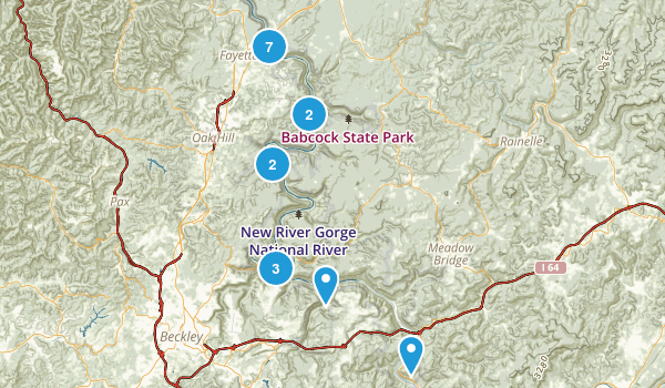 New River Gorge National River Map