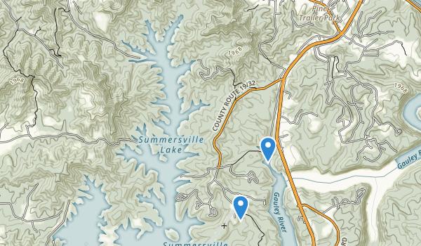 Summersville Lake State Wildlife Area Map