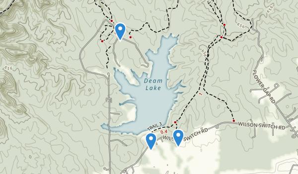Deam Lake State Recreation Area Map