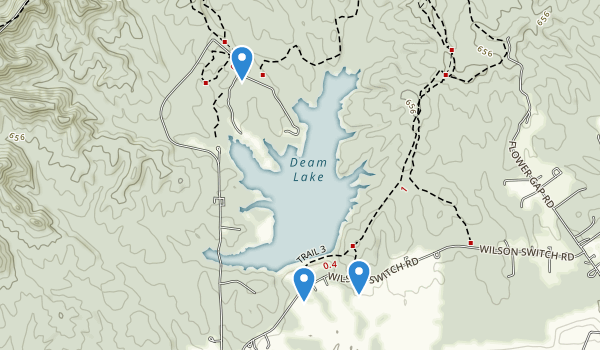 Deam Lake State Recreation Area Map