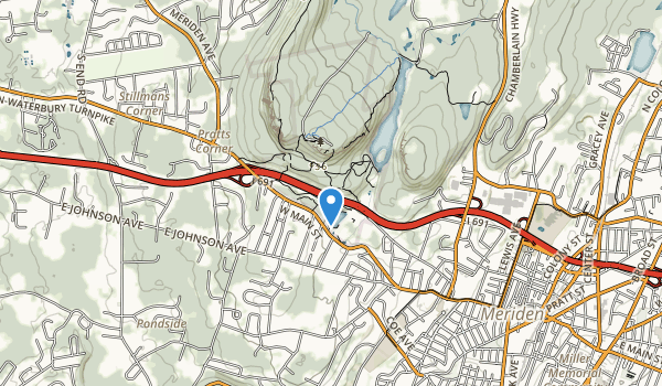 trail locations for Hubbard Park