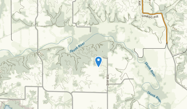 trail locations for Brinton Timbers Park