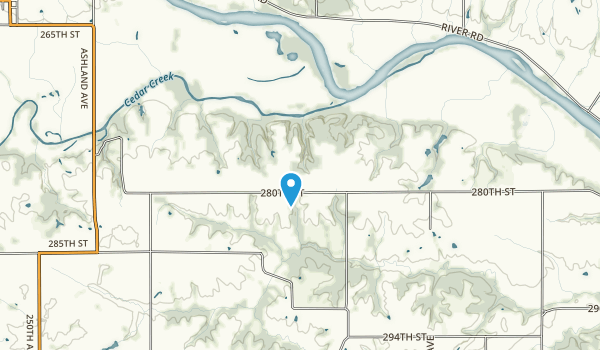 Cedar Bluffs Natural Area Map