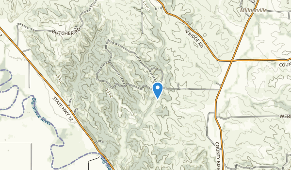 Five Ridge Prairie State Preserve Map