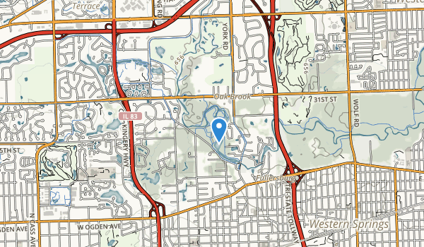 Fullersburg County Forest Preserve Map