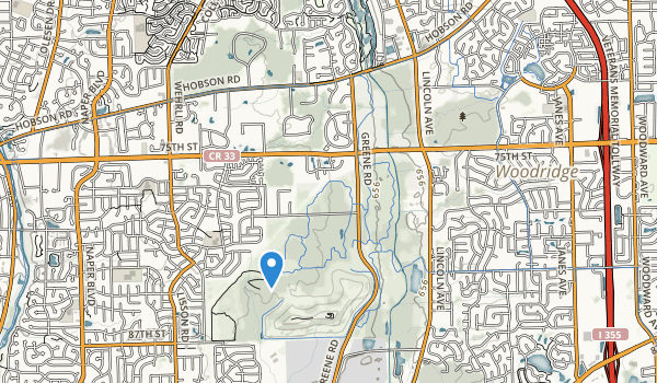 trail locations for Green Valley County Forest Preserve