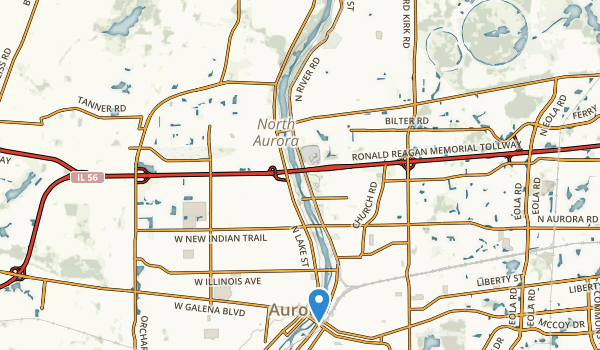 Les Arends County Forest Preserve Map