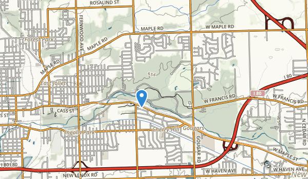 trail locations for Pilcher Park