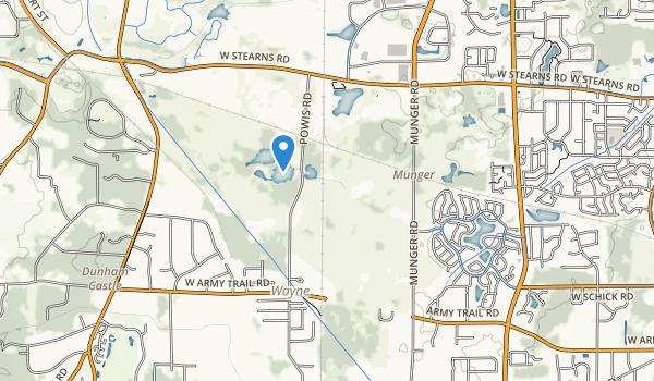 Pratts Wayne Woods County Forest Preserve Map