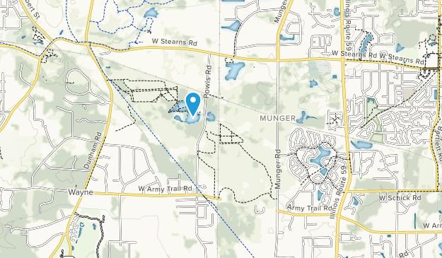 Pratts Wayne Woods County Waldschutzgebiet Map