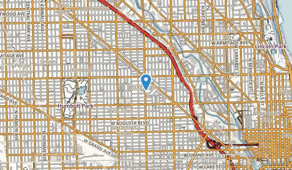 trail locations for Wicker Park