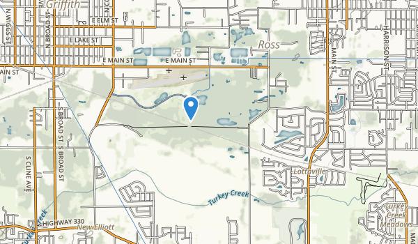 trail locations for Oak Ridge Prairie County Park