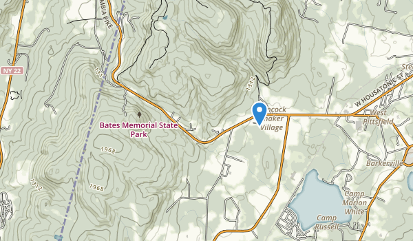 trail locations for Bates Memorial State Park