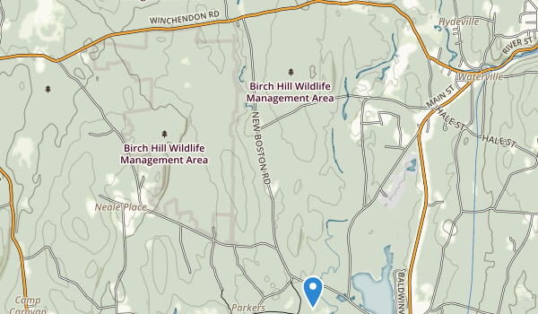 trail locations for Birch Hill State Wildlife Management Area