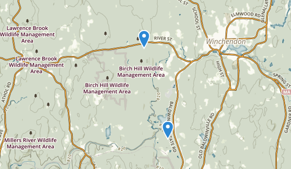 Birch Hill State Wildlife Management Area Map