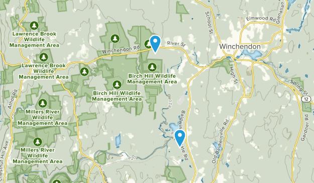 Área de gestión de vida silvestre estatal de Birch Hill Map