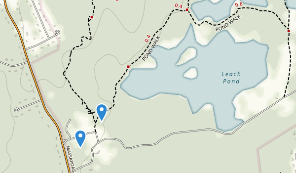 trail locations for Borderland State Park
