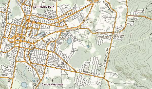 trail locations for Brattle Brook Park