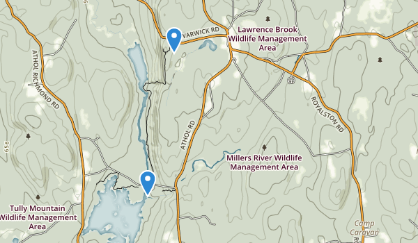 Millers River Wildlife Management Area Map