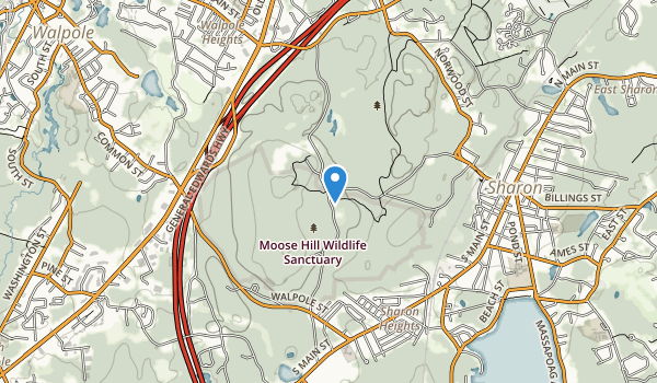 Moose Hill Wildlife Sanctuary Map