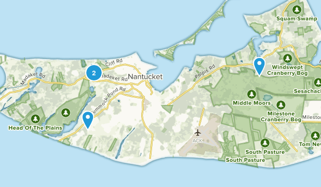 Nantucket Conservation Foundation Map