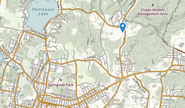 trail locations for Springside Park