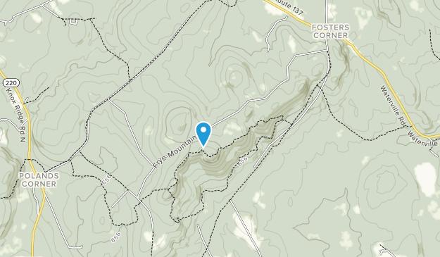 Área de gestión de juegos de Frye Mountain State Map