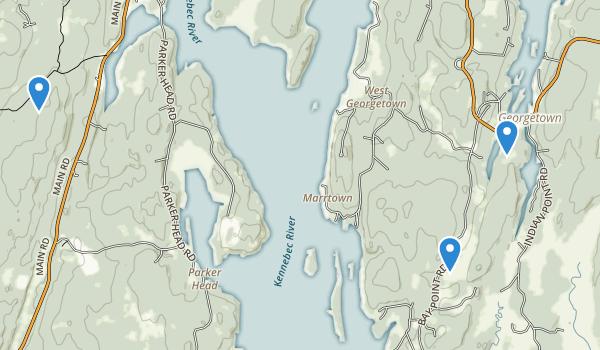 trail locations for Josephine Newman Sanctuary
