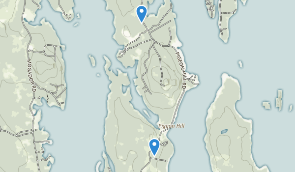 trail locations for Petit Manan National Wildlife Refuge