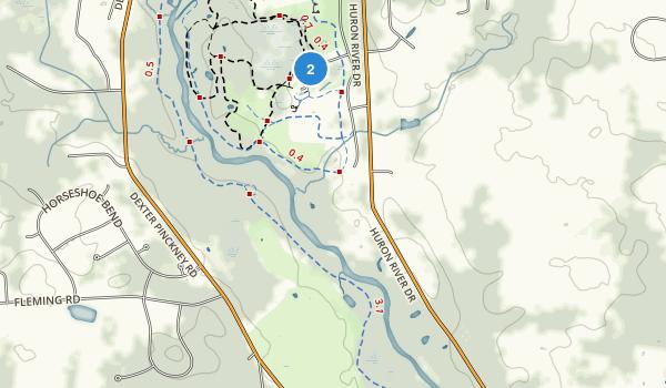 Hudson Mills Metropolitan Park Map