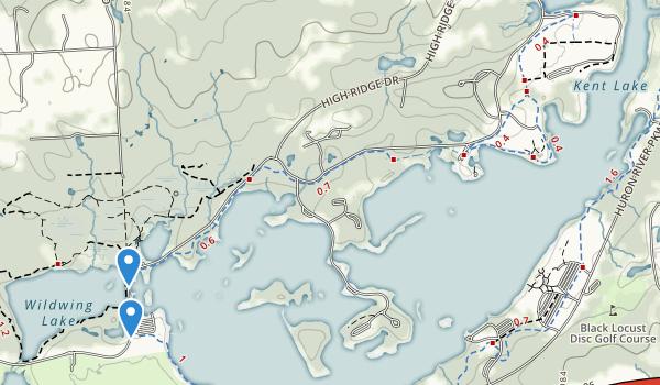 trail locations for Kensington Metropolitan Park