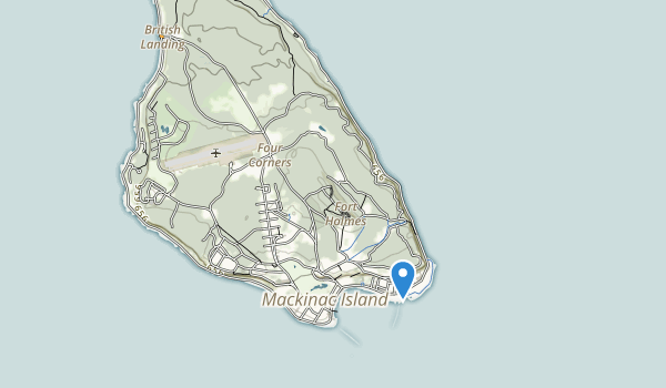 trail locations for Mackinac Island State Park