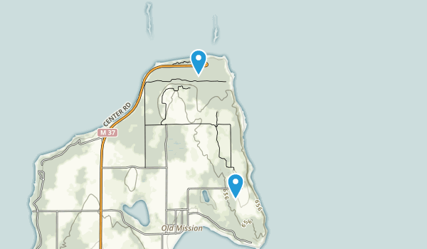 Old Mission Lighthouse Park Map