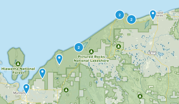 Pictured Rocks National Lakeshore Map