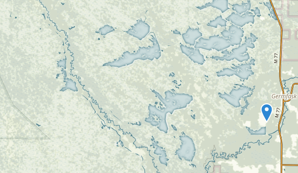 trail locations for Seney National Wildlife Refuge