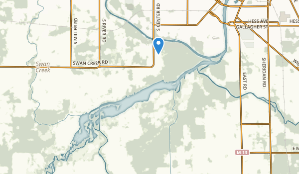 trail locations for Shiawassee National Wildlife Refuge