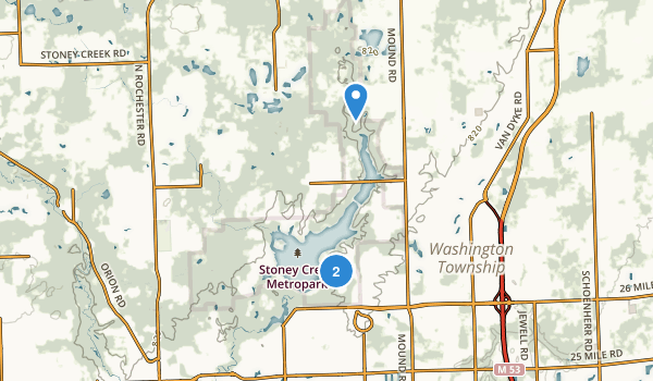 Stony Creek Metropolitan Park Map
