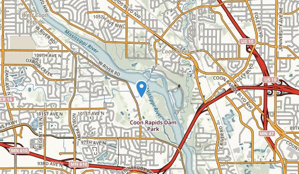 Coon Rapids Dam Regional Park Map