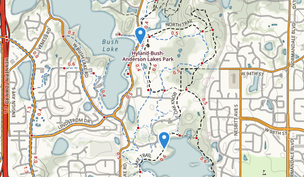 Hyland Lake County Park Map