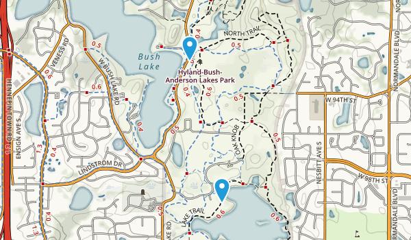 Hyland Lake County Park Map